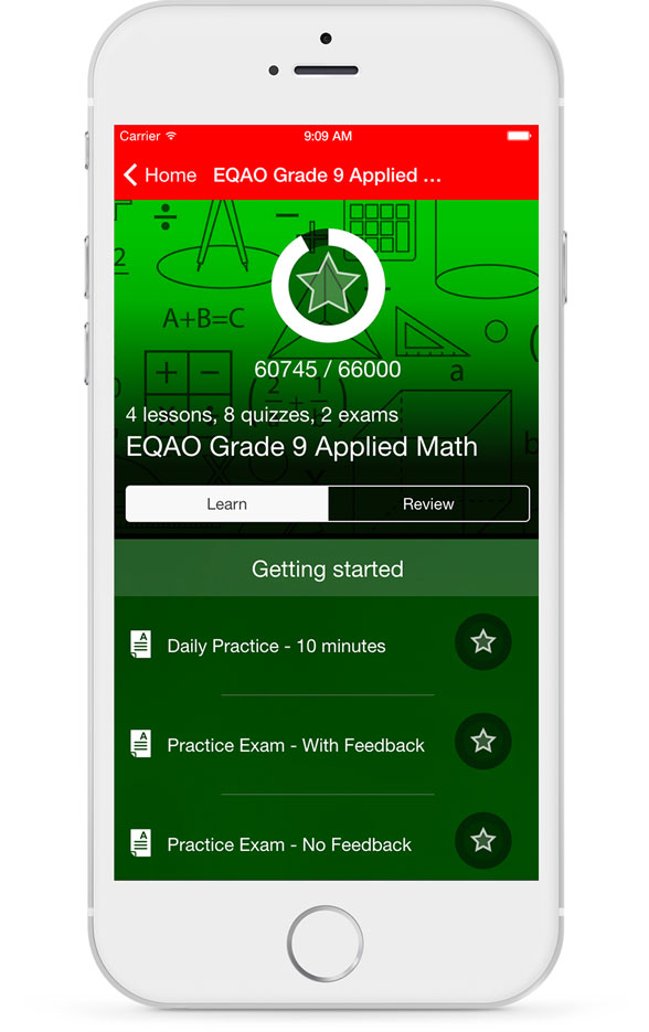 EQAO Applied Math Course List