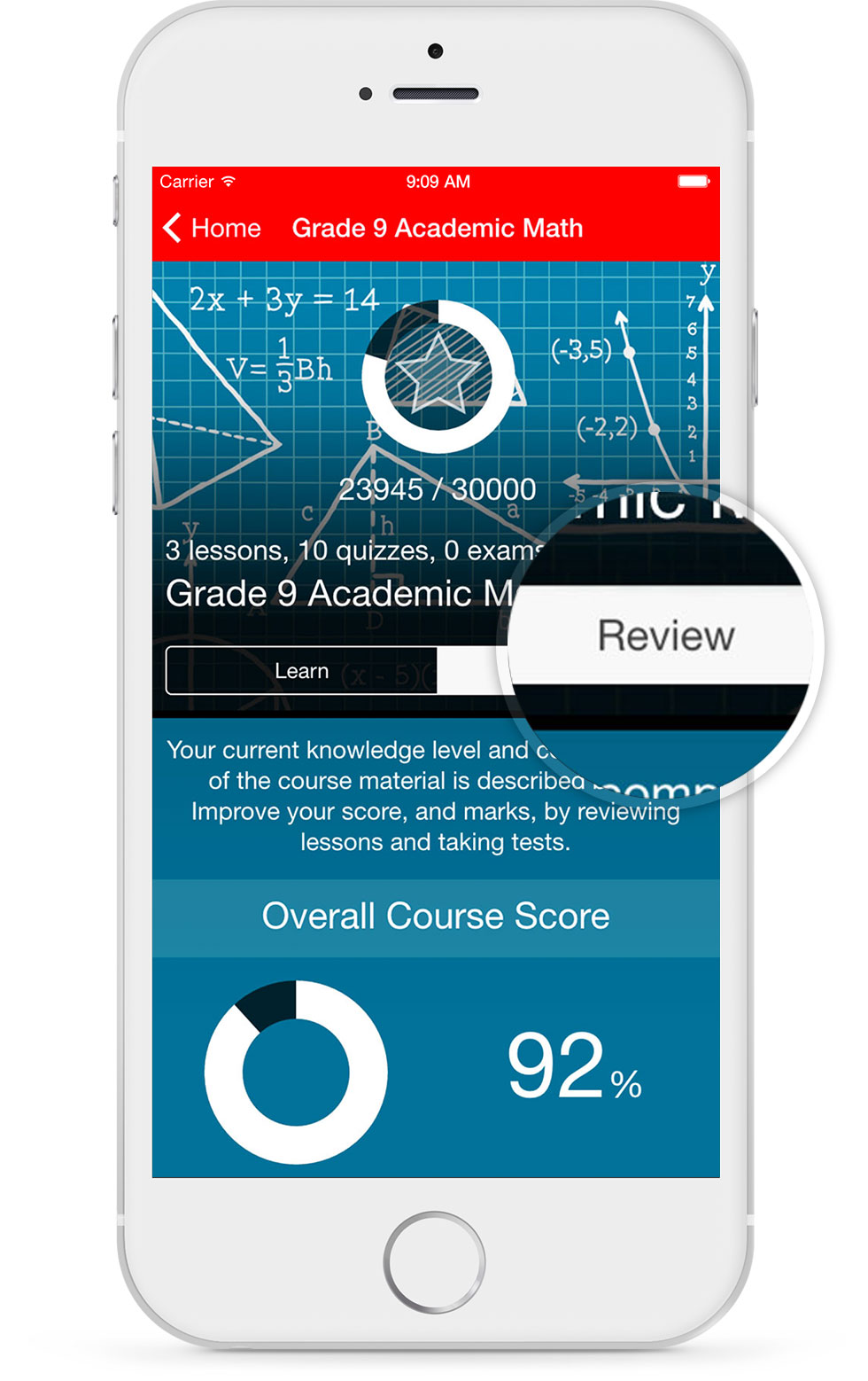 Parent Course Review Screenshot On Mobile Device