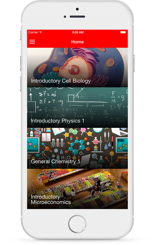 Students Course Display Screenshot Mobile Device