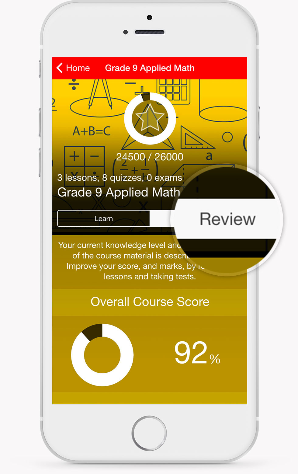 Grade 9 Applied Math Review Screen