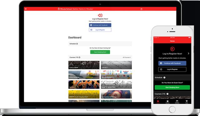 Minute School Desktop and Mobile